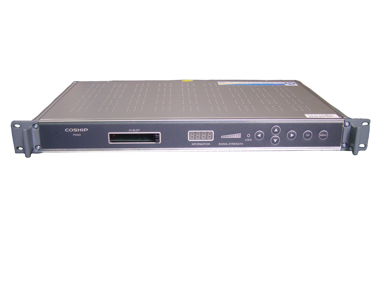 P5000系列产品--同洲高清数字卫星解码器 P5000是一款功能强大的数字综合解码器。它采用可配置化设计,多种信源输入可选。可解码H.264/MPEG4 AVC、MPEG2、AVS等。具备广播级传输功能,包括ASI、MPEGoIP、HDMI、CVBS、AES/EBU、XLR等接口。传输接口均拥有冗余备份功能。加密节目可CI多节目解扰或CA单节目解密。能够监控异常信号并触发继电器报警。提供友好的用户管理方式,并开放SNMP可编程接口,便于广电机房设备集中管理。